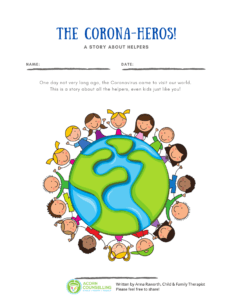 Covid-19 and children story with colouring pages empowering kids