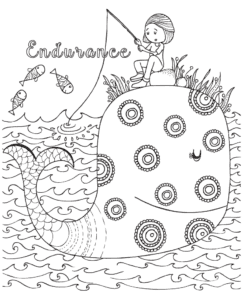 covid-19 and social distancing activities and strength based colouring pages from GoZen